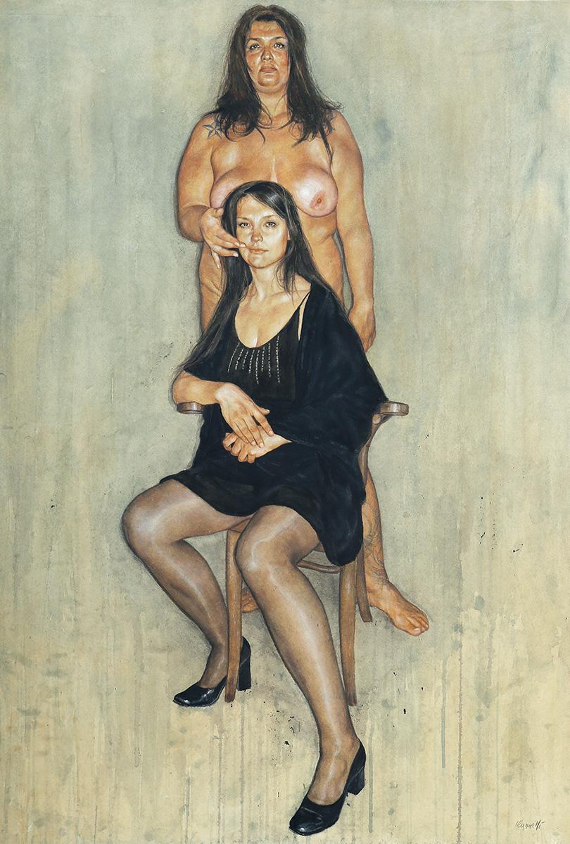 <span>Appunti per la ricostruzione della bellezza 1</span> - Tecnica mista su cartone, 71x101,5cm, 2009
