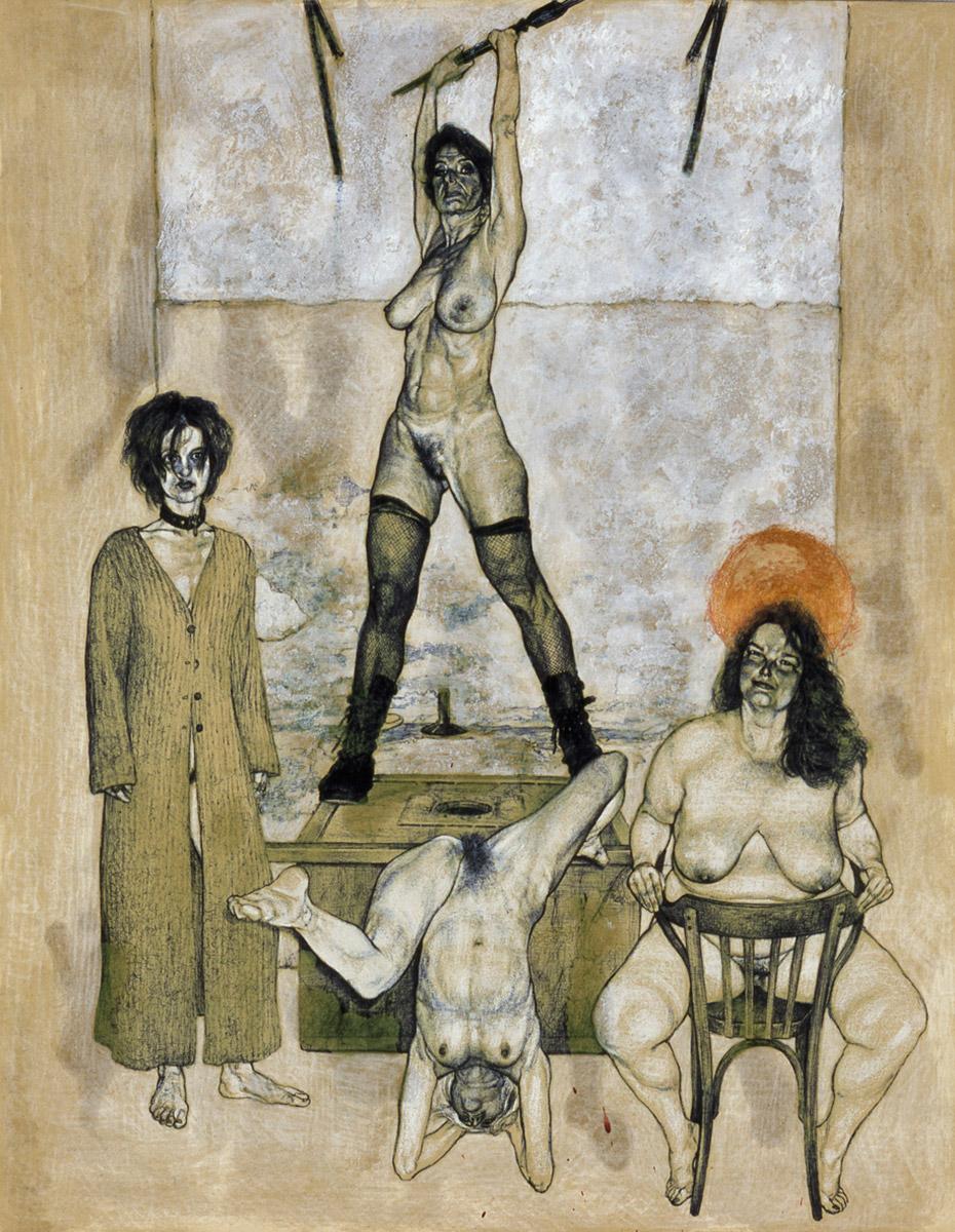<span>Danza della vittoria</span> - Tecnica mista su carta, 42x56cm, 2005