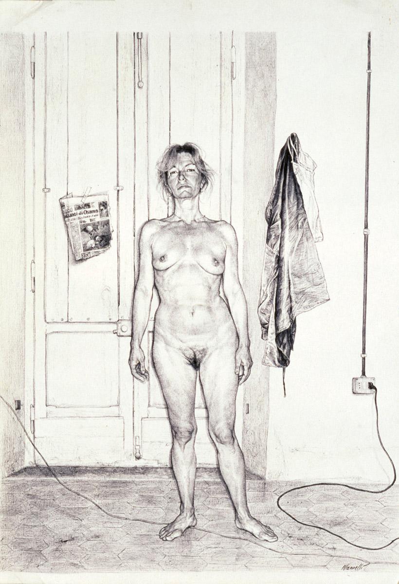 <span>La madre</span> - Penna su carta, 33x48cm, 2001