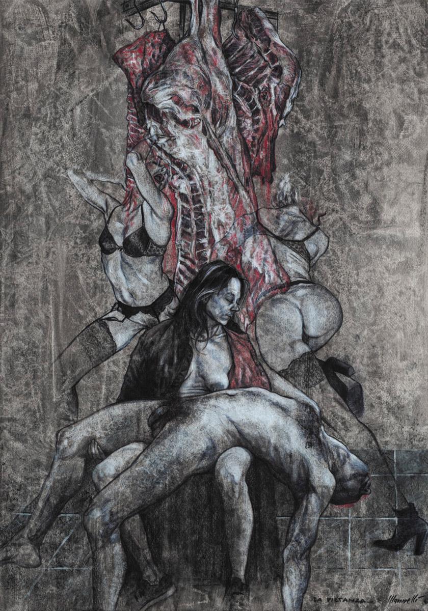 <span>La Pietanza</span> - Tecnica mista su tela
