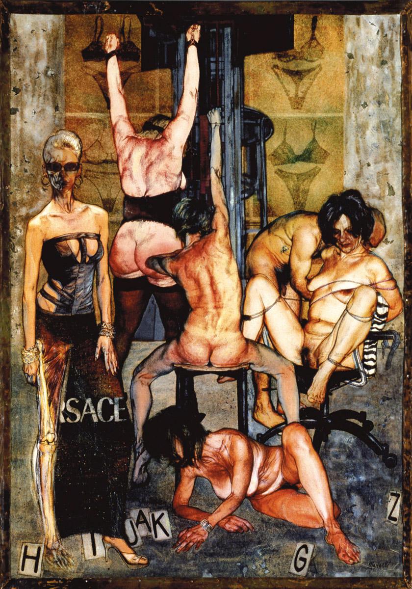 <span>Macchinario per sognare</span> - Tecnica mista su tela, 72x51cm, 2001